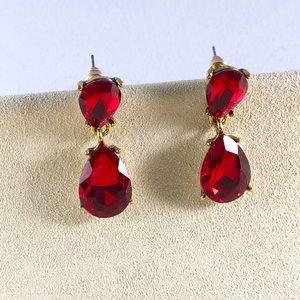 Jewelry - Red Crystal Drop Earrings